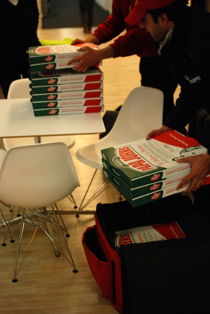 That's a half-rack of pizza boxes!