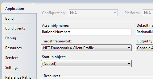 Target Framework