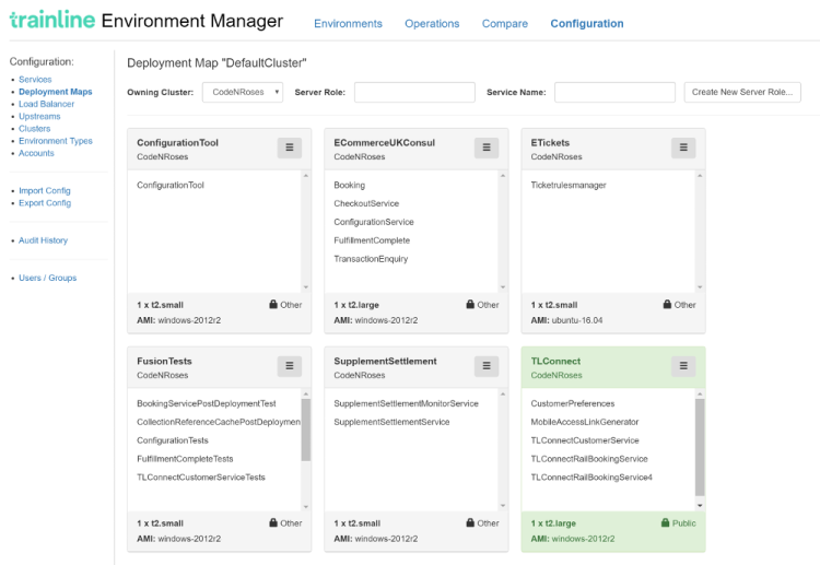 Environment Manager Screenshot