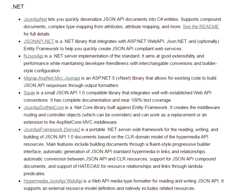 jsonapi_implementations